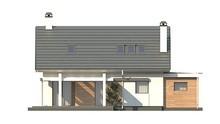Проект коттеджа с мансардой и гаражом с левой стороны