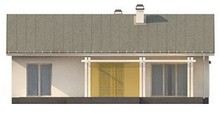 Проект простого элегантного одноэтажного коттеджа