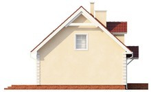Проект аккуратного домика в традиционном стиле с двускатной крышей