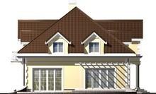 Проект просторного 1,5-этажного особняка с гаражом для двух авто