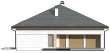 Проект коттеджа с многоскатной крышей и открытой мансардой