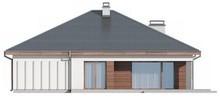 Уютный одноэтажный дом в классическом стиле с фронтальным гаражом