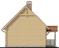 Проект небольшого коттеджа с мансардой и боковой террасой
