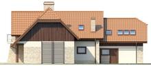Проект солидного особняка с гаражом для двух авто