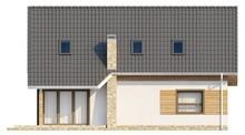 Проект классического дома с большой комнатой на первом этаже