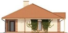 Проект одноэтажного дома с гаражом в классическом стиле