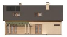 Проект большого дома с красивой мансардой и гаражом
