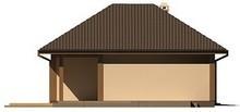 Проект стильного одноэтажного коттеджа с гаражом