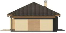Проект небольшого одноэтажного коттеджа с гаражом на одну машину