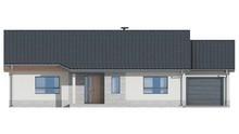 Проект одноэтажного классического коттеджа с гаражом