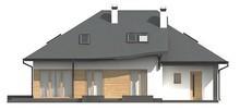 Проект коттеджа с мансардой и гаражом