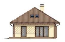 Проект классического дома с мансардой и 2 спальнями