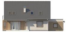 Проект 2-х этажного коттеджа с гаражом