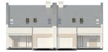 Проект двухэтажного симметричного коттеджа на две семьи