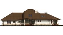 Проект комфортабельного особняка с гаражом для 2-х автомобилей