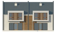 Проект современного энергосберегающего дома формы таунхаус