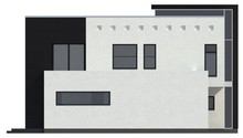 Проект современного дома с просторной террасой над гаражом