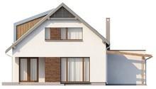 Проект оригинального дома с мансардой