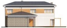 Проект двухэтажного дома с пристроенным гаражом