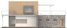 Проект современного коттеджа с террасой над гаражом