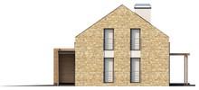 Проект современного дома с мансардой и гаражом