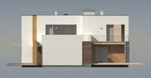 Проект современного дома с дополнительным помещением