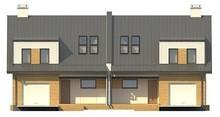Проект дома на две семьи с отдельными входами и двумя гаражами