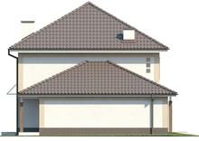 Проект двухэтажного классического коттеджа с гаражом