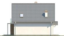 Проект мансардного коттеджа с кухней на южной стороне