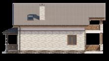 Компактный дом 8 на 9 в классическом стиле