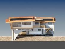 Проект современного двухэтажного особняка с бассейном