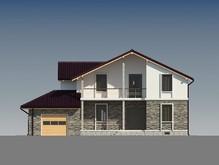 Проект коттеджа с гаражом и дополнительной комнатой на первом этаже