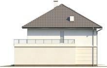 Проект коттеджа с террасой над гаражом