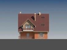 Проект красивого коттеджа с кирпичным фасадом