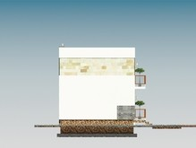 Проект красивого классического дома с гаражом и мансардой
