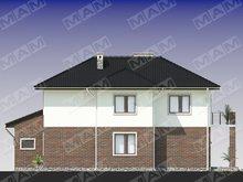 Стильный двухэтажный коттедж с кирпичным фасадом