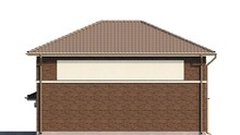 Проект 2-х этажного коттеджа с боковым гаражом