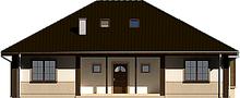 Проект большого, просторного классического дома с мансардой