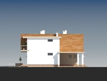Современный удобный двухэтажный коттедж с балконами