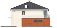 Проект двухэтажного коттеджа с эркером над гаражом