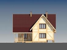 Дом с мансардой в стиле шале в каркасном исполнении