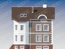 Проект современного большого трехэтажного дома с беседкой