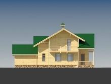 Деревянный дом с мансардой и гаражом