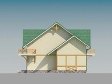 Проект дома с мансардой и большими балконами
