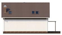 Каркасный проект презентабельного одноэтажного коттеджа с мансардой