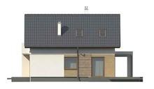 Версия дома с мансардой 4M116 с пристроенным гаражом