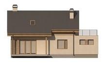 Проект дома с мансардой по типу 4M188 с гаражом на одну машину