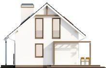 Проект компактного дома с мансардой в каркасном исполнении