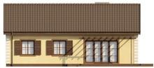 Проект классического коттеджа размерами 10 на 10 метров