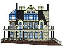 Проект небольшого замка с бассейном в цокольном этаже